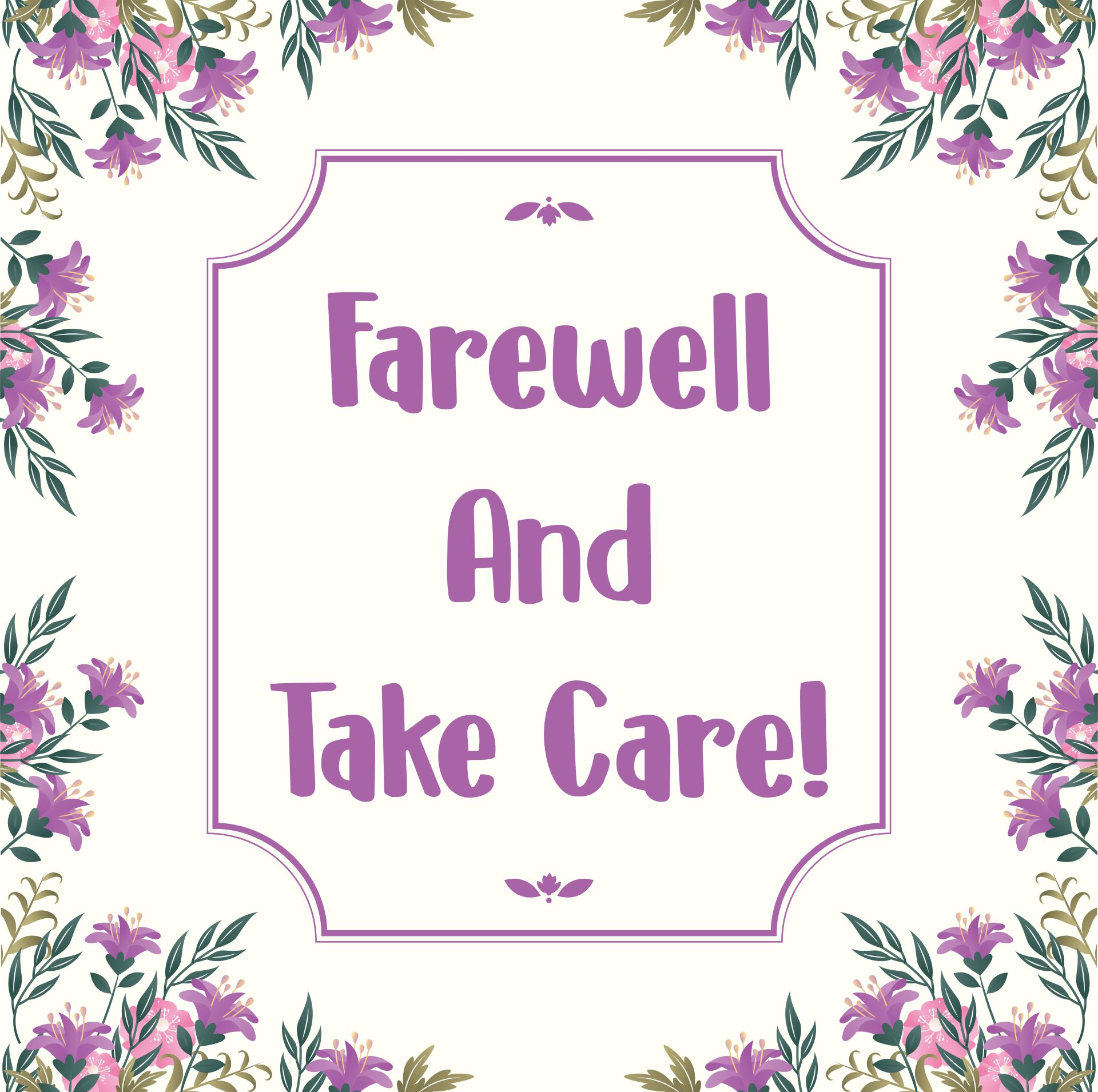 Printable Farewell Card
