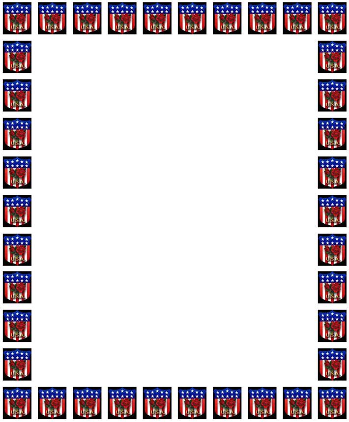american flag writing paper