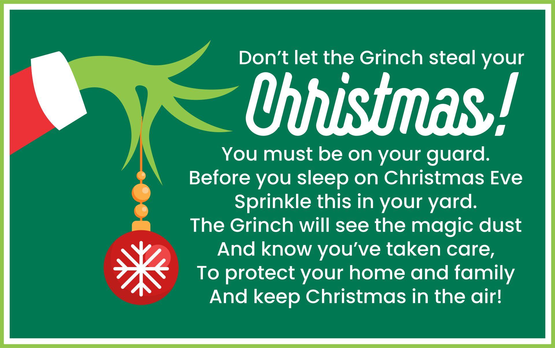Free Printable Grinch Dust Poem