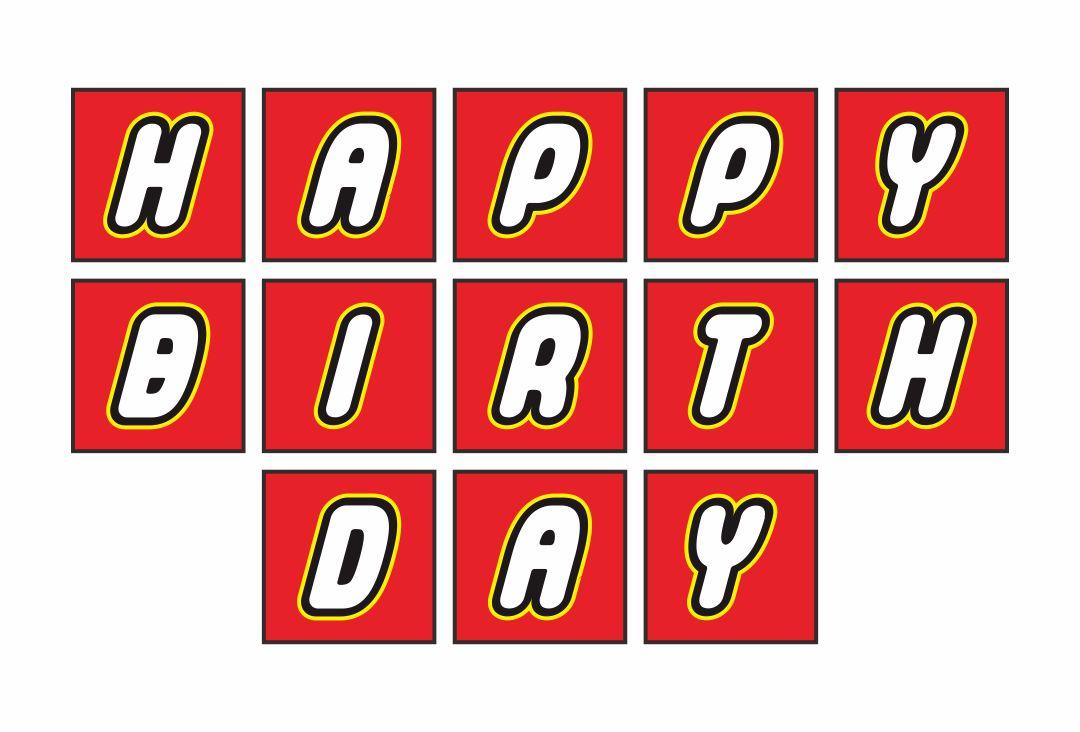 8 Best Printable LEGO Happy Birthday Sign - printablee.com