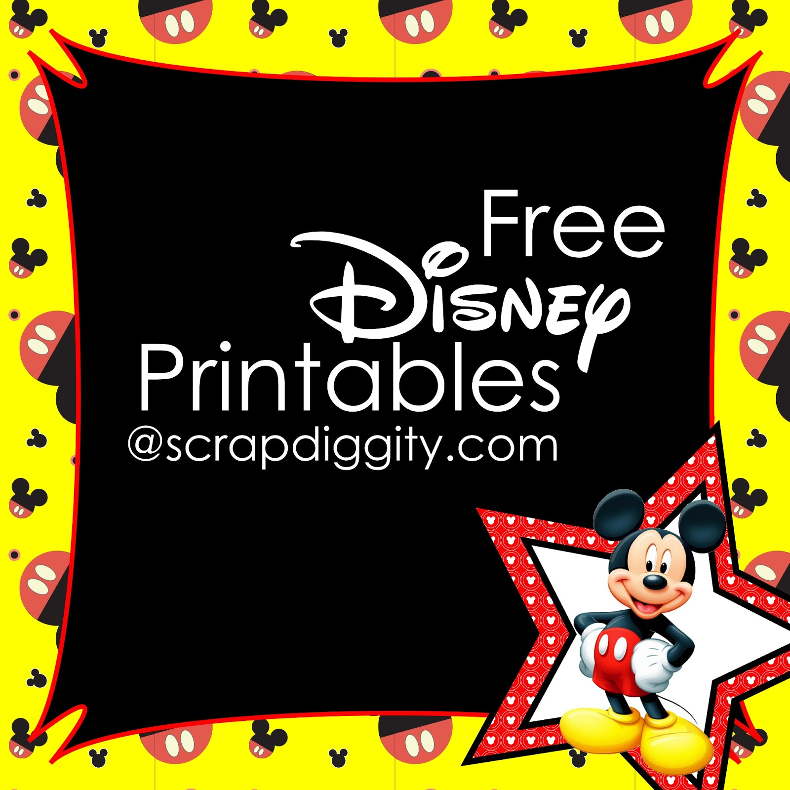 Free Classroom Decoration Templates ~ Best images of free printable mickey mouse scrapbook