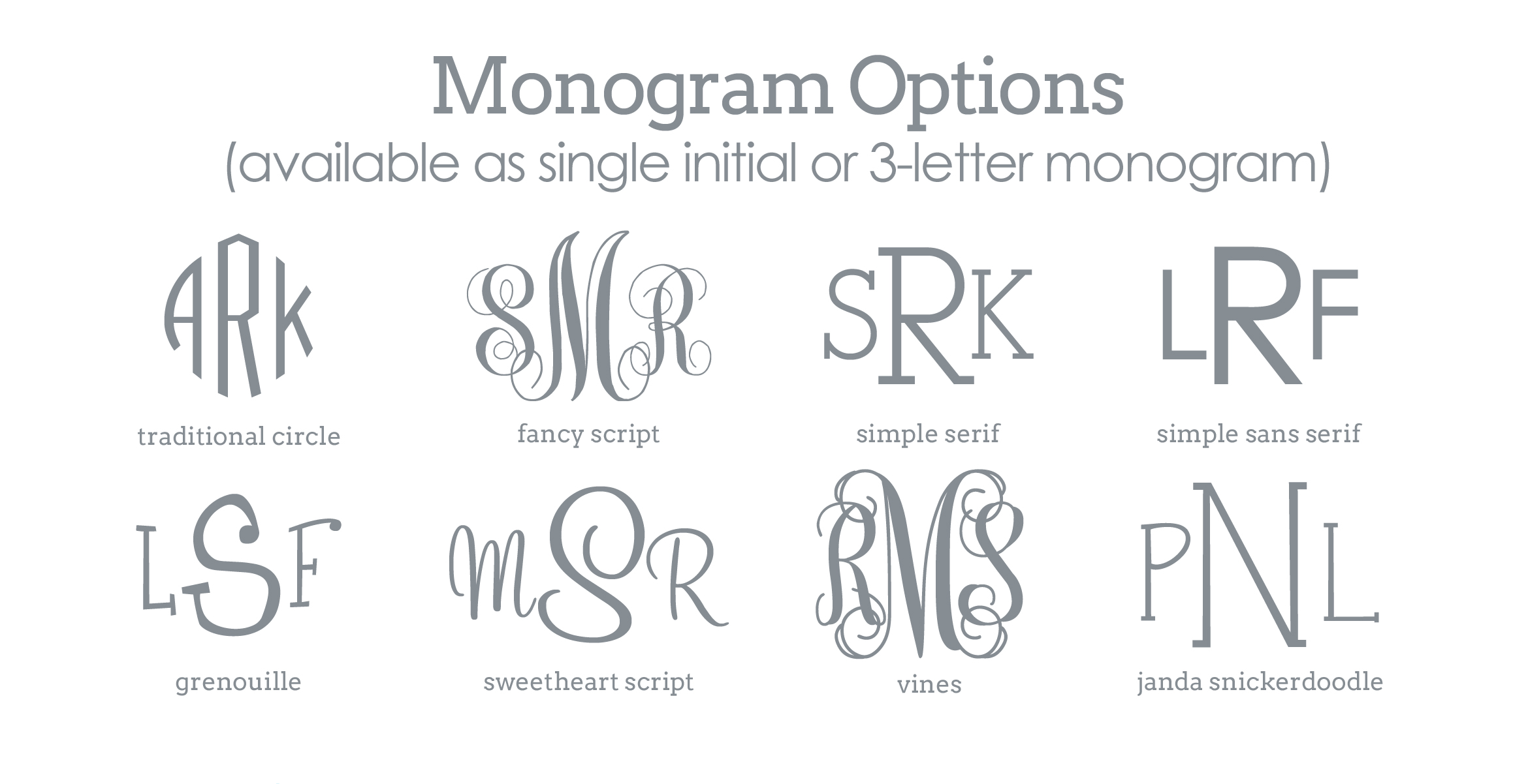 6 Images of Monogram Letter Template Printable