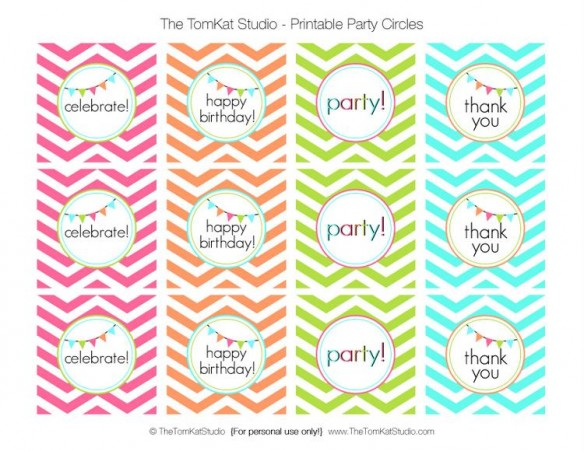Free Printable Party Circle S Birthday