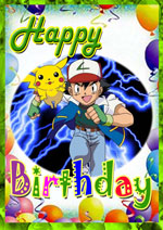 6 Images of Pokemon Printable Birthday Cards