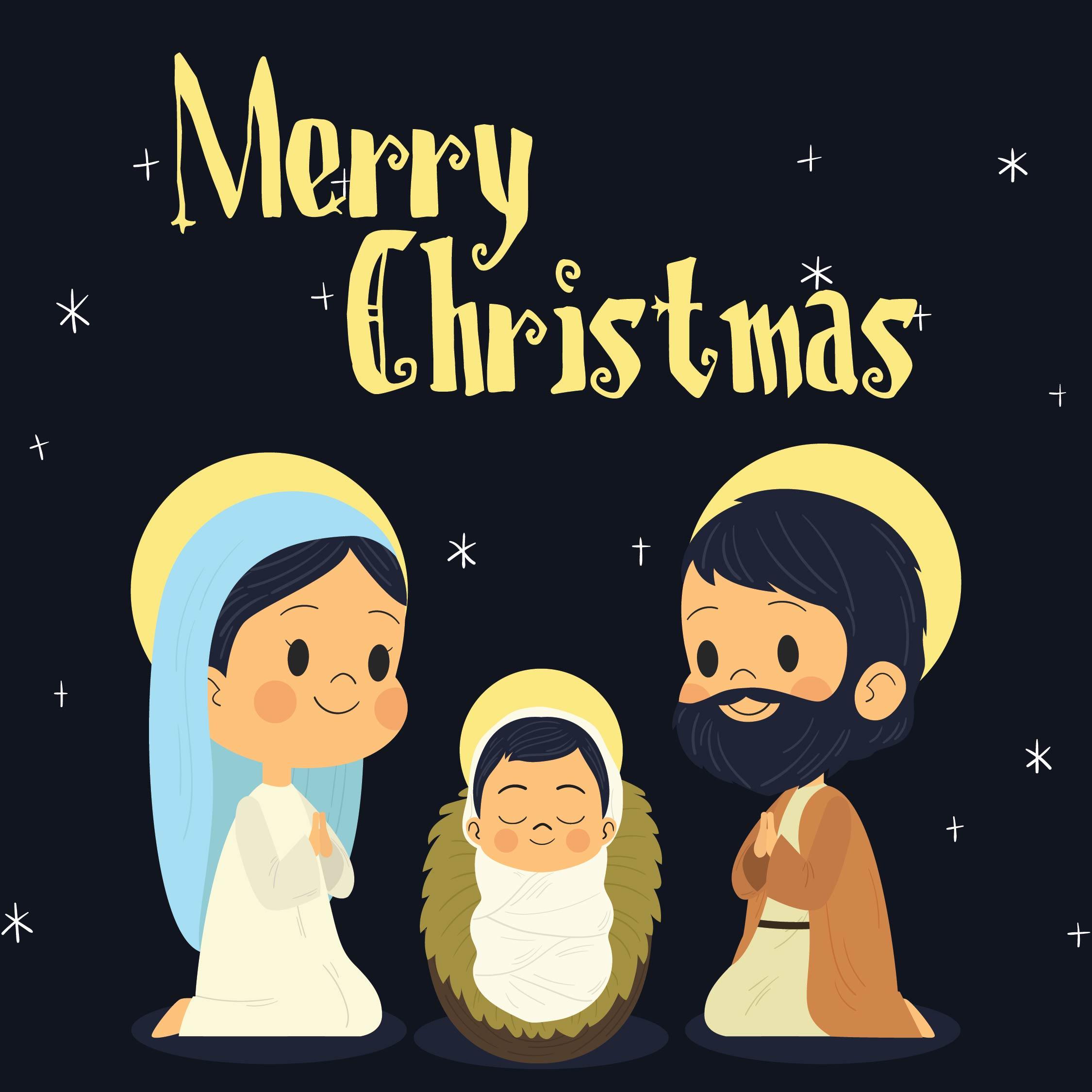 Printable Religious Christmas Greeting Cards