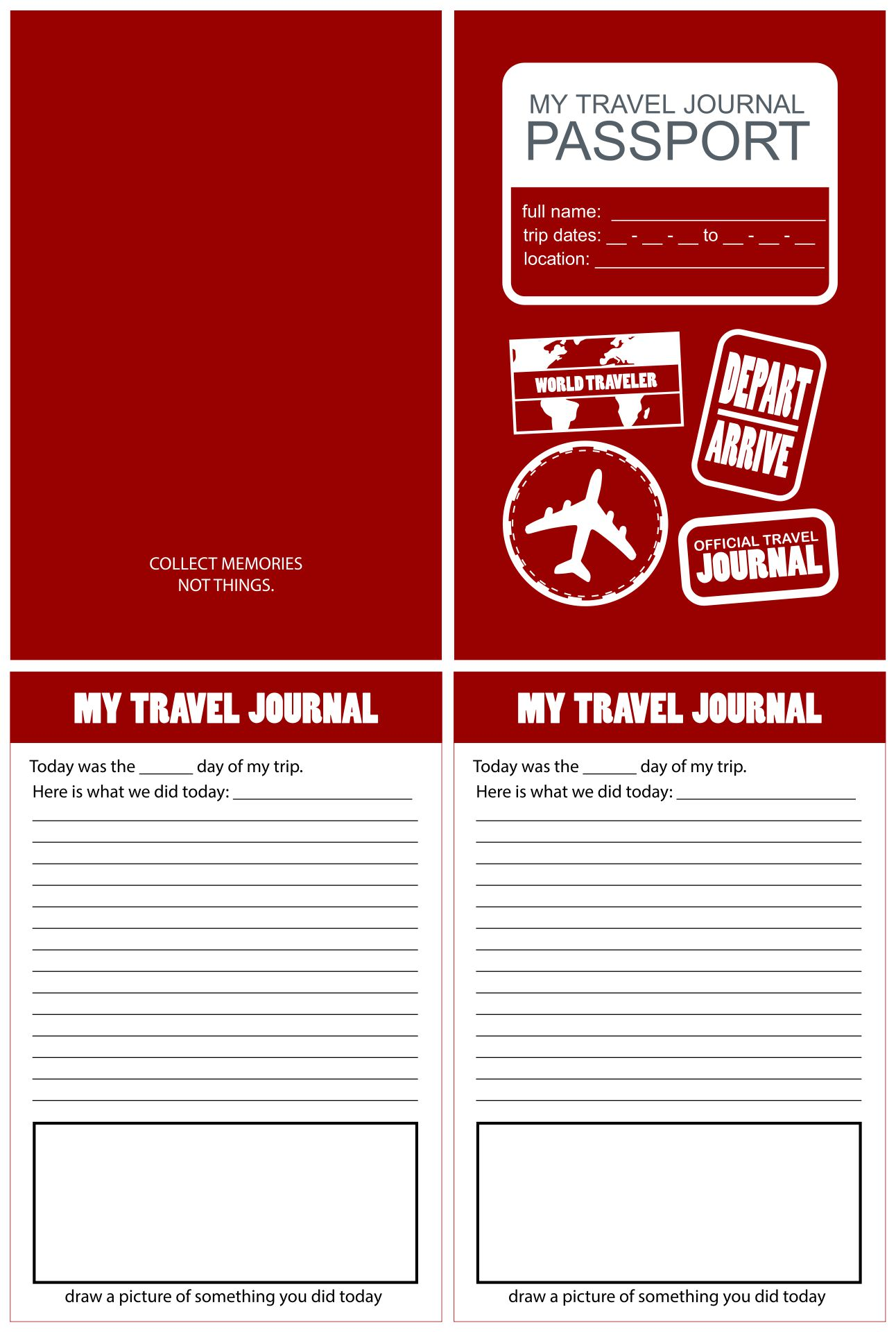 7 Images of Travel Journal Printable Template