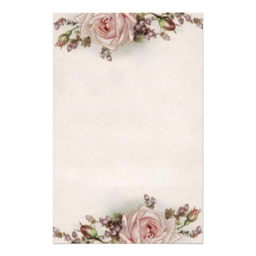 8 Images of Elegant Rose Stationery Free Printable