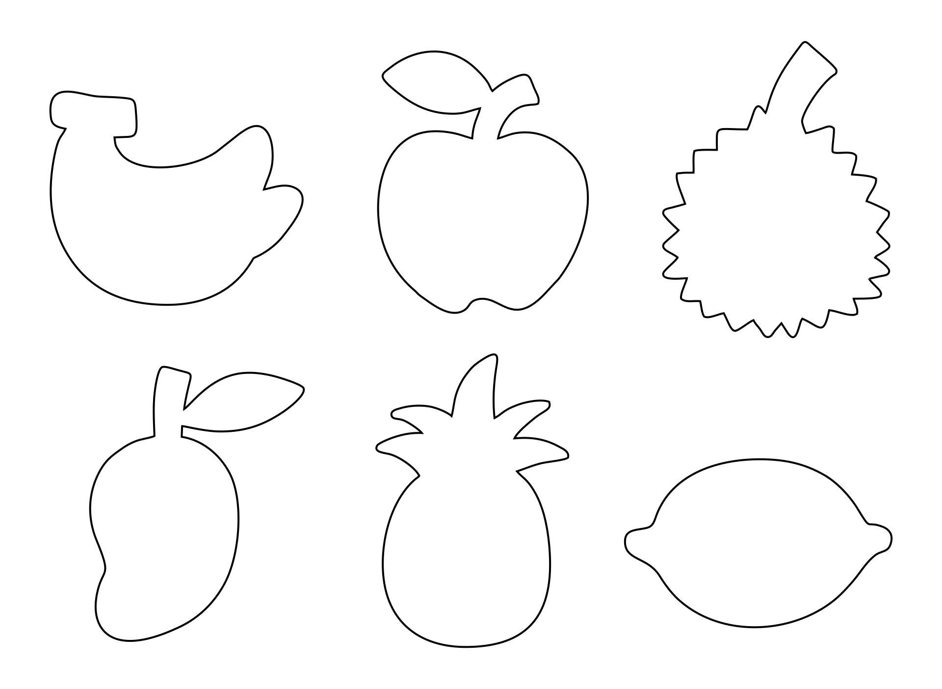 Fruit Cut Out Shapes