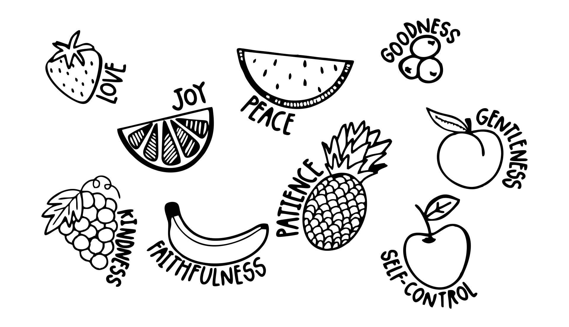 Fruit of the Spirit Coloring Pages Printable