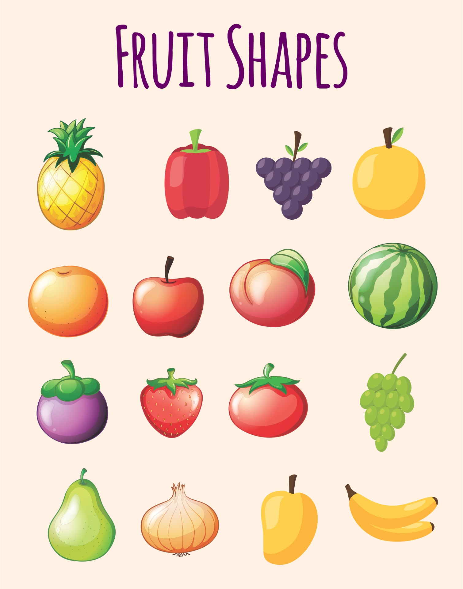 Fruit Shapes Template