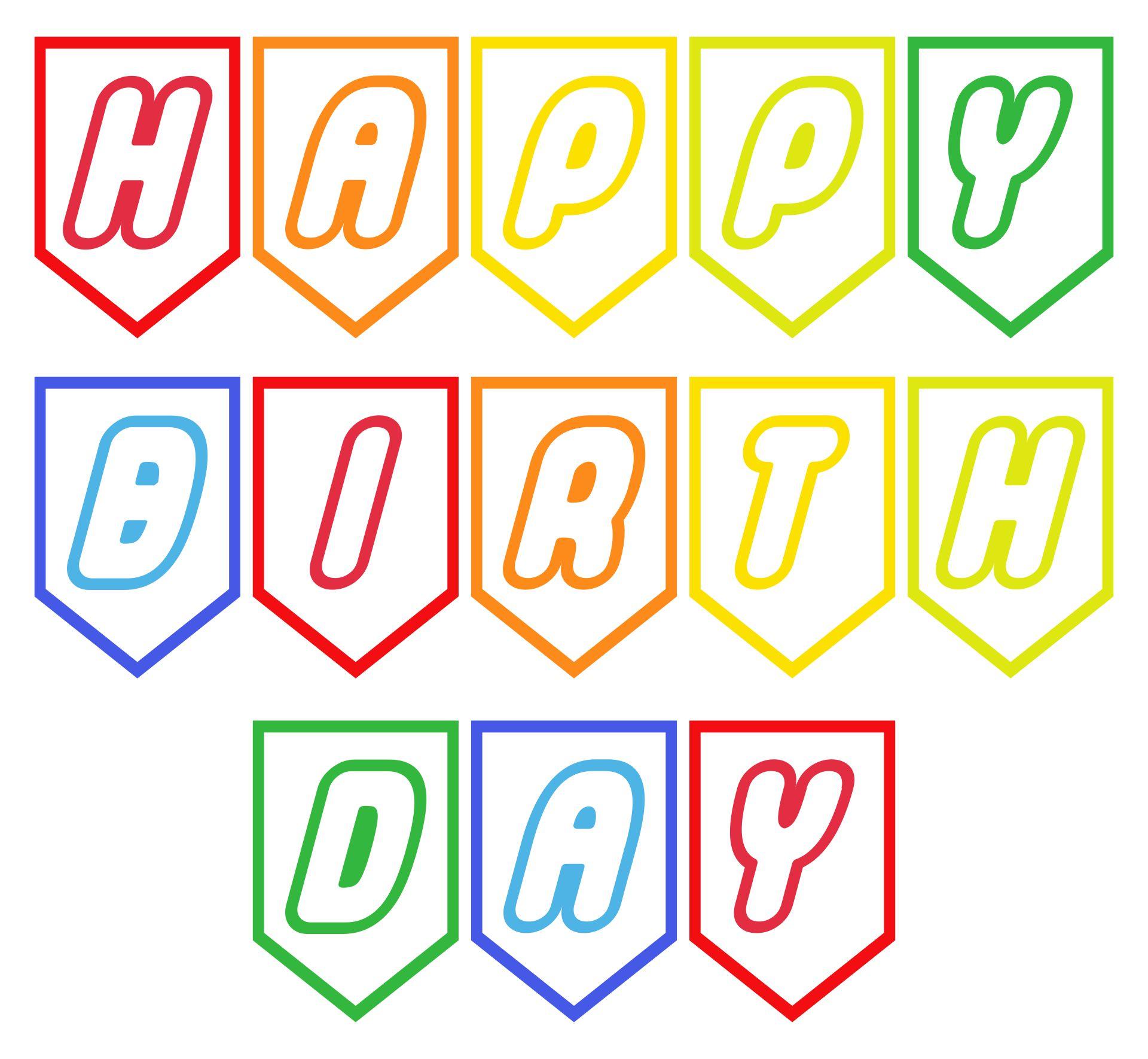 Happy Birthday LEGO Banner