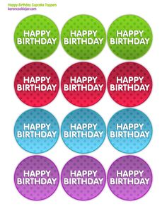 8 Images of Happy Birthday Printables Cupcake Toppers Boys