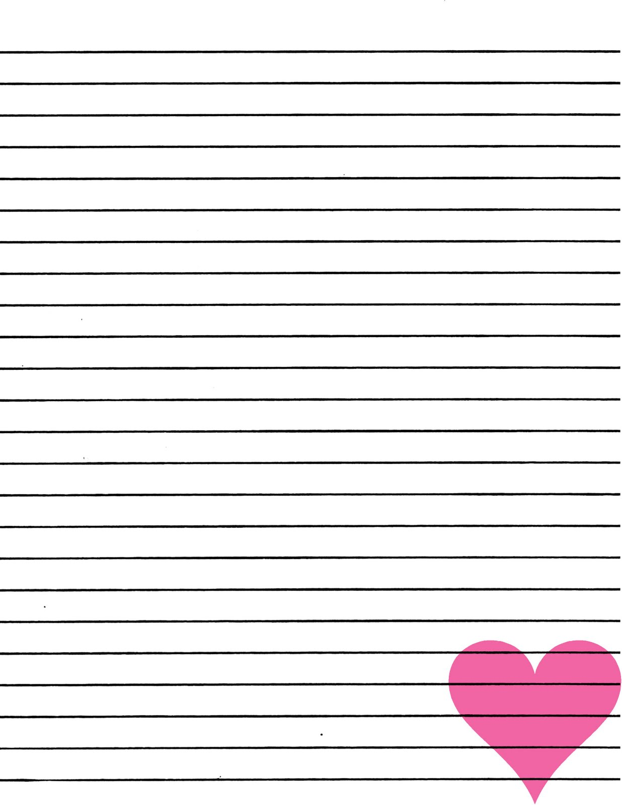 Printable Lined Paper with Borders, Heart Lined Paper & Free Printable ...