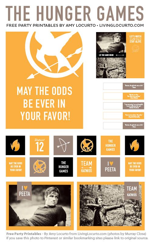 5 Images of Hunger Games Party Printables