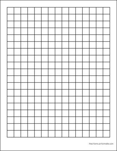 6 best images of one inch graph paper printable 1 inch