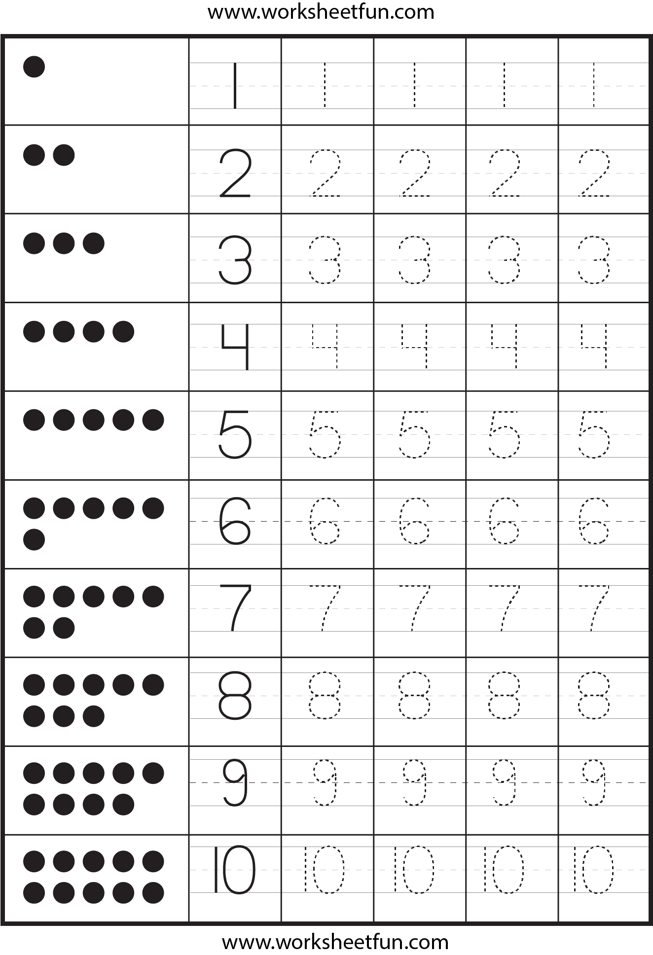 4 Images of Printable Tracing Numbers 6
