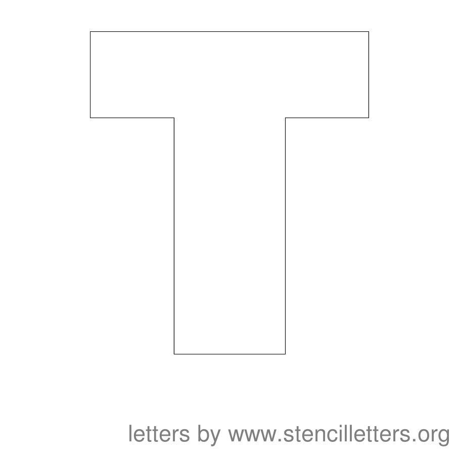 Worksheet Letters T large printable letter stencils t 83651 jpg letters