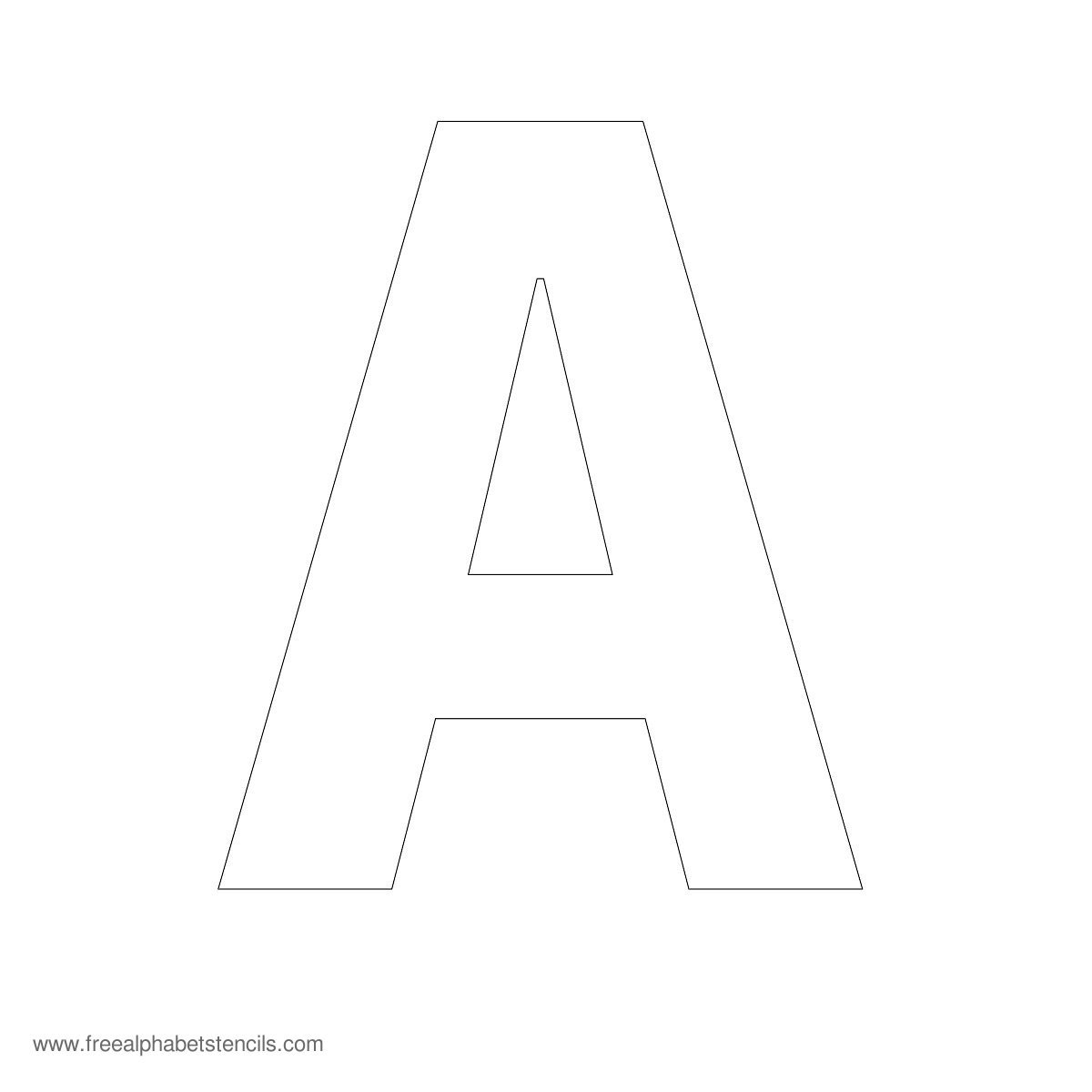 5 Images of Large Size Alphabet Letter Printable Stencil