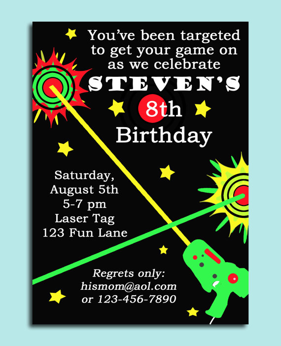 9 Images of Laser Tag Invitations Printable
