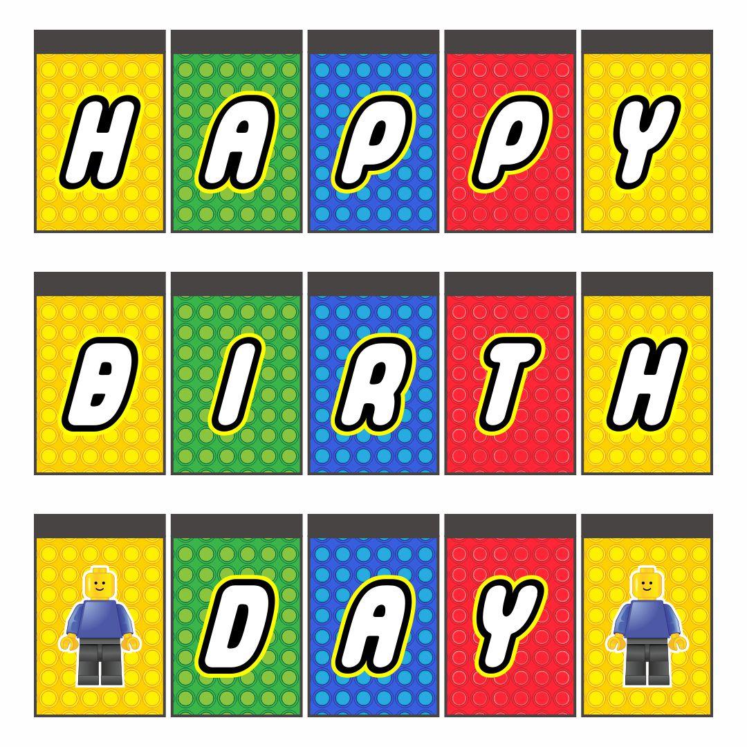 8 Best Printable Lego Happy Birthday Sign Printablee Com