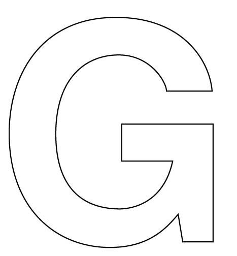 See Free Printable Block Letter Stencils, Letter G Stencil & Letter G ...
