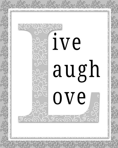 5 Images of Free Printable Live Laugh Love Wall Art