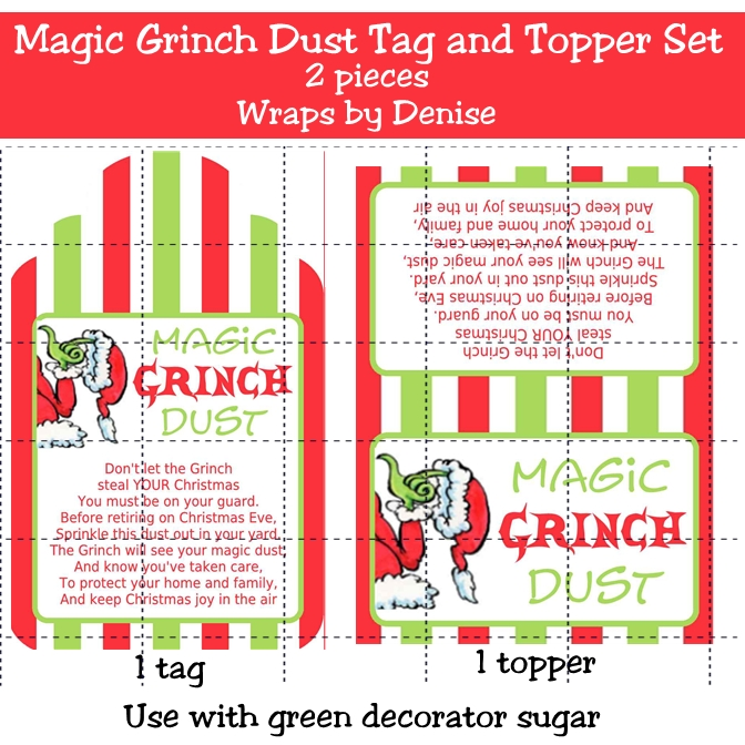 ... Printable Grinch Dust, Free Printable Grinch Dust Poem and Grinch Dust