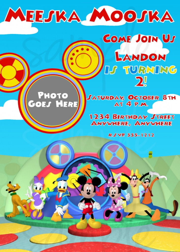 7 Images of Mickey Mouse Clubhouse Birthday Invitation Printable