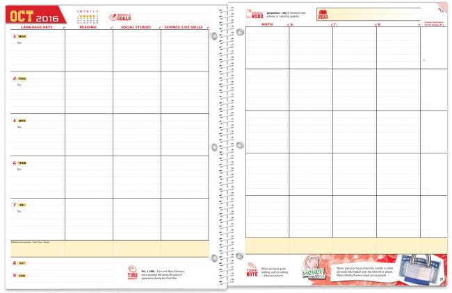 Middle School Agenda Template Printable Pictures to Pin on – Student Agenda Template