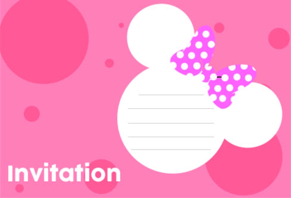 Minnie Mouse Invitations Templates Free