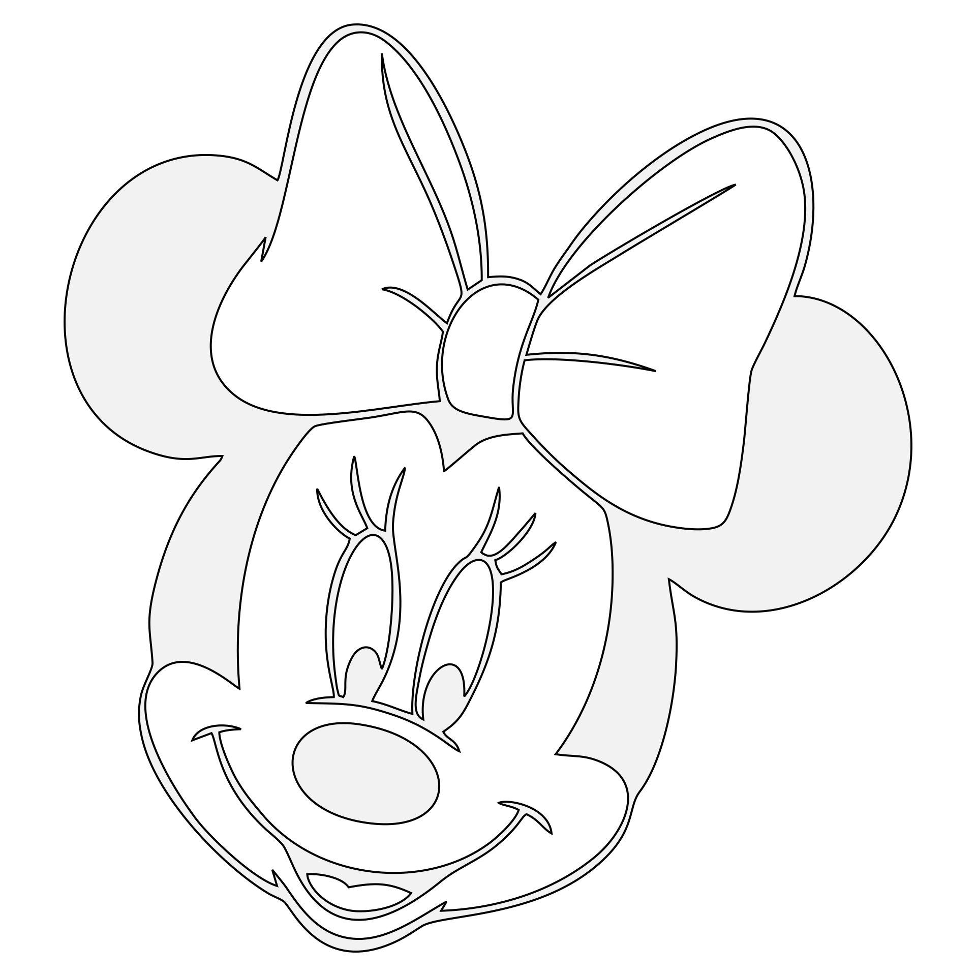 Minnie Mouse Pumpkin Stencil Free