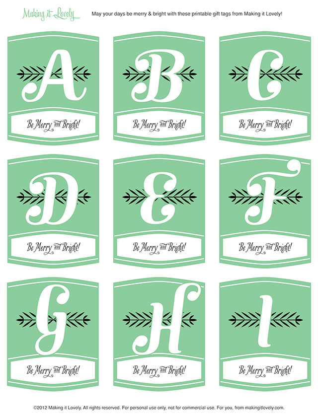 8 Images of Free Printable Favor Tags Monogram