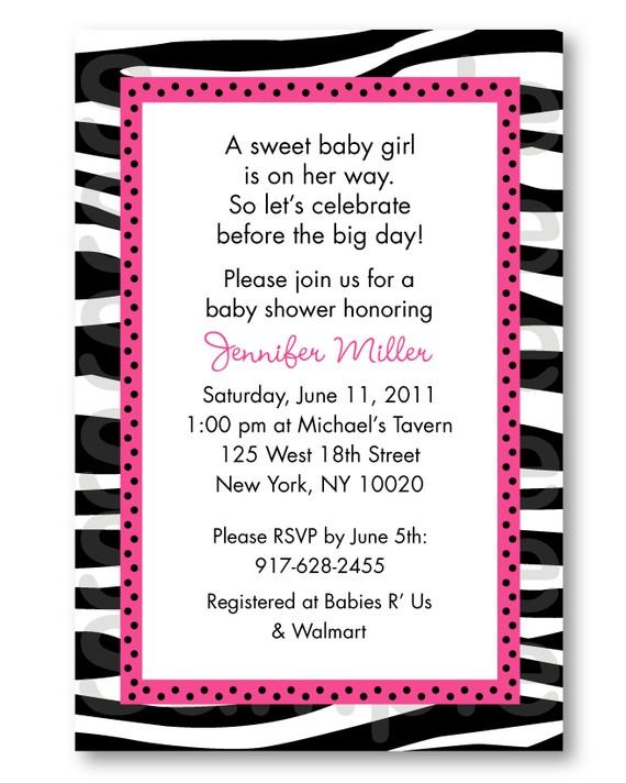 zebra baby shower invitations templates