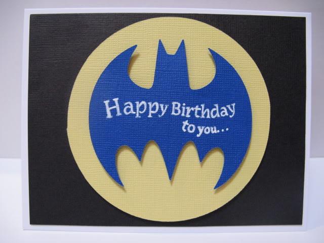 Batman Birthday Card