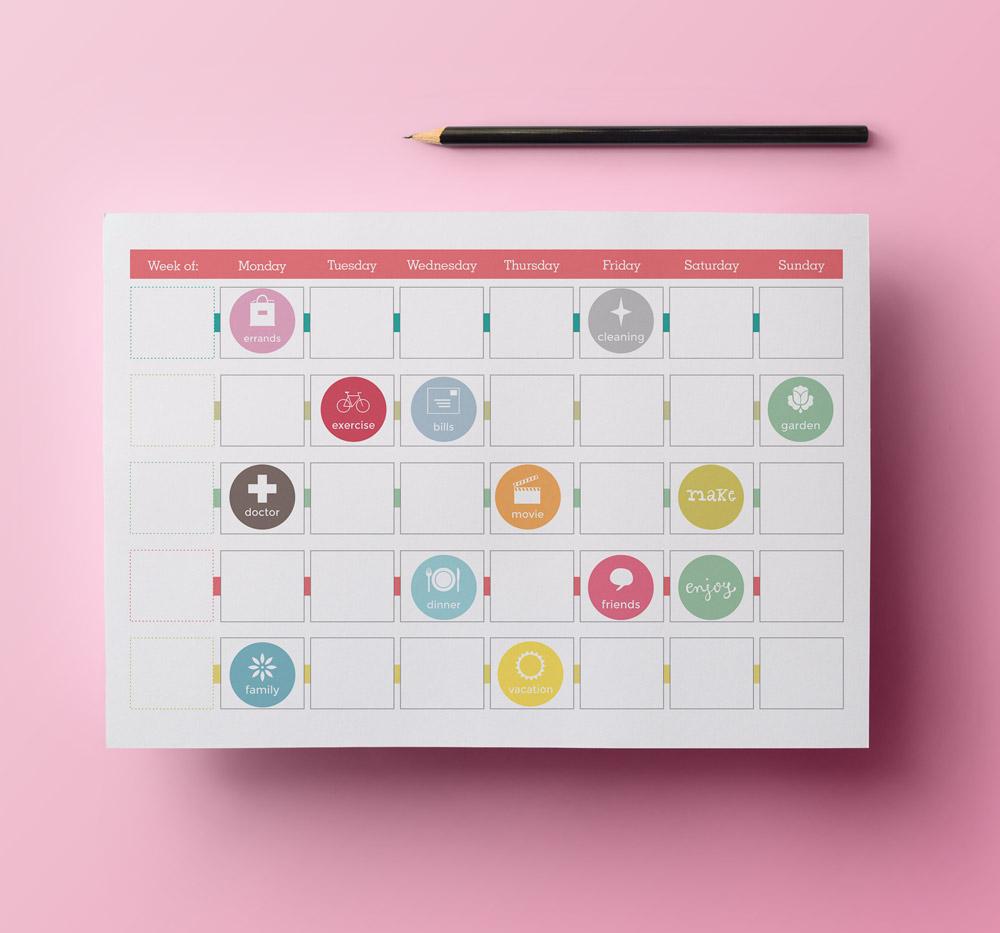Printable Calendar Planner Stickers