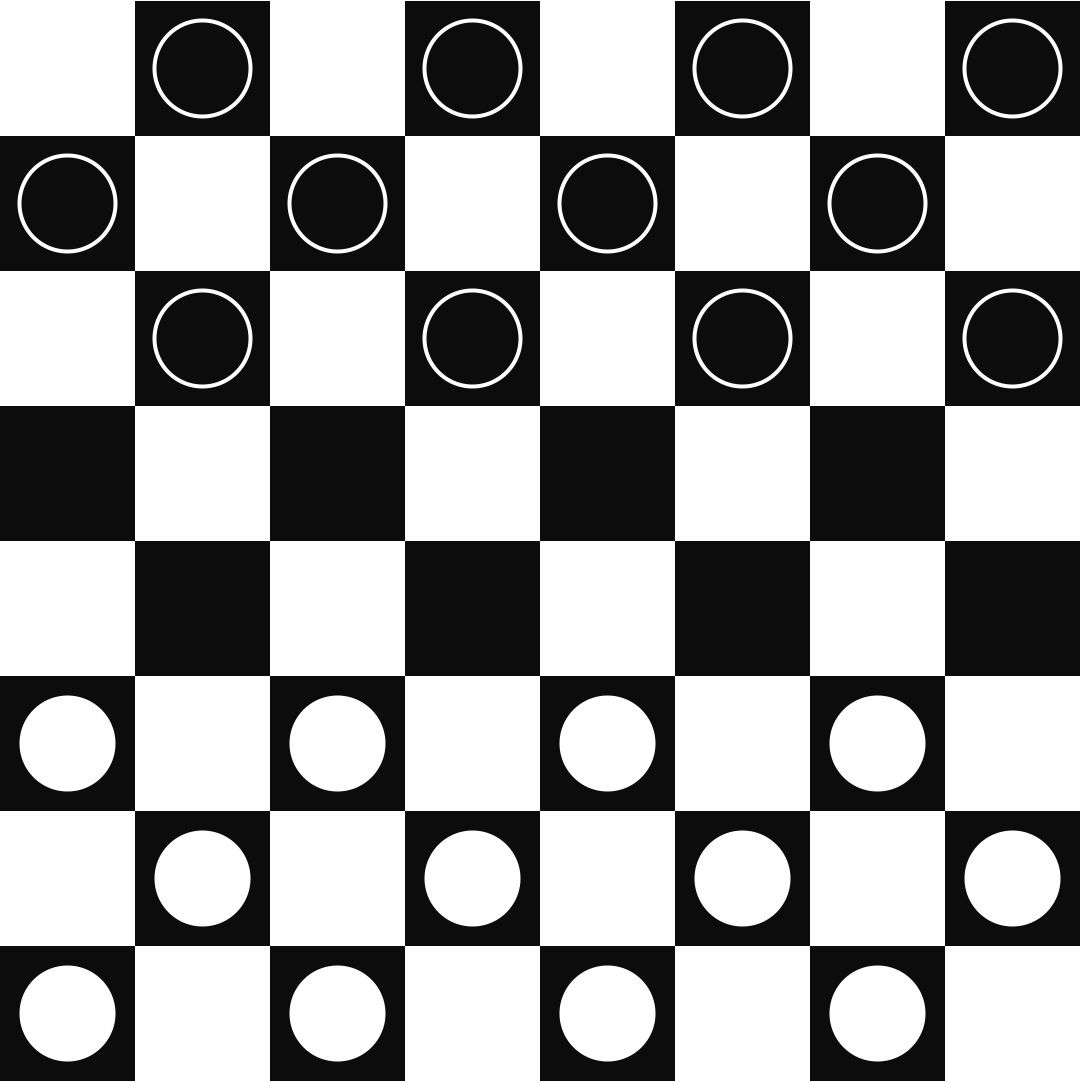 Printable Checkers Board and Pieces