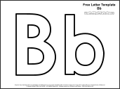 6 Images of Letter B Template Printable