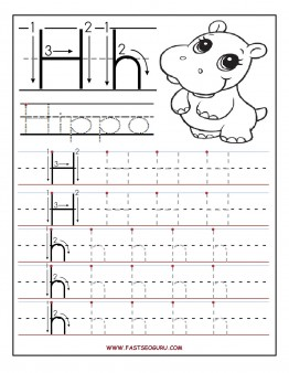 8 Images of Preschool Letter H Printable Pages
