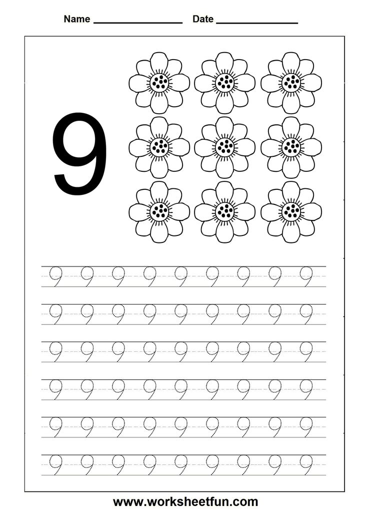 Pre K Calendar Printables : Best images of printable tracing number worksheets