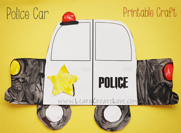 7 Images of Police Car Template Printable