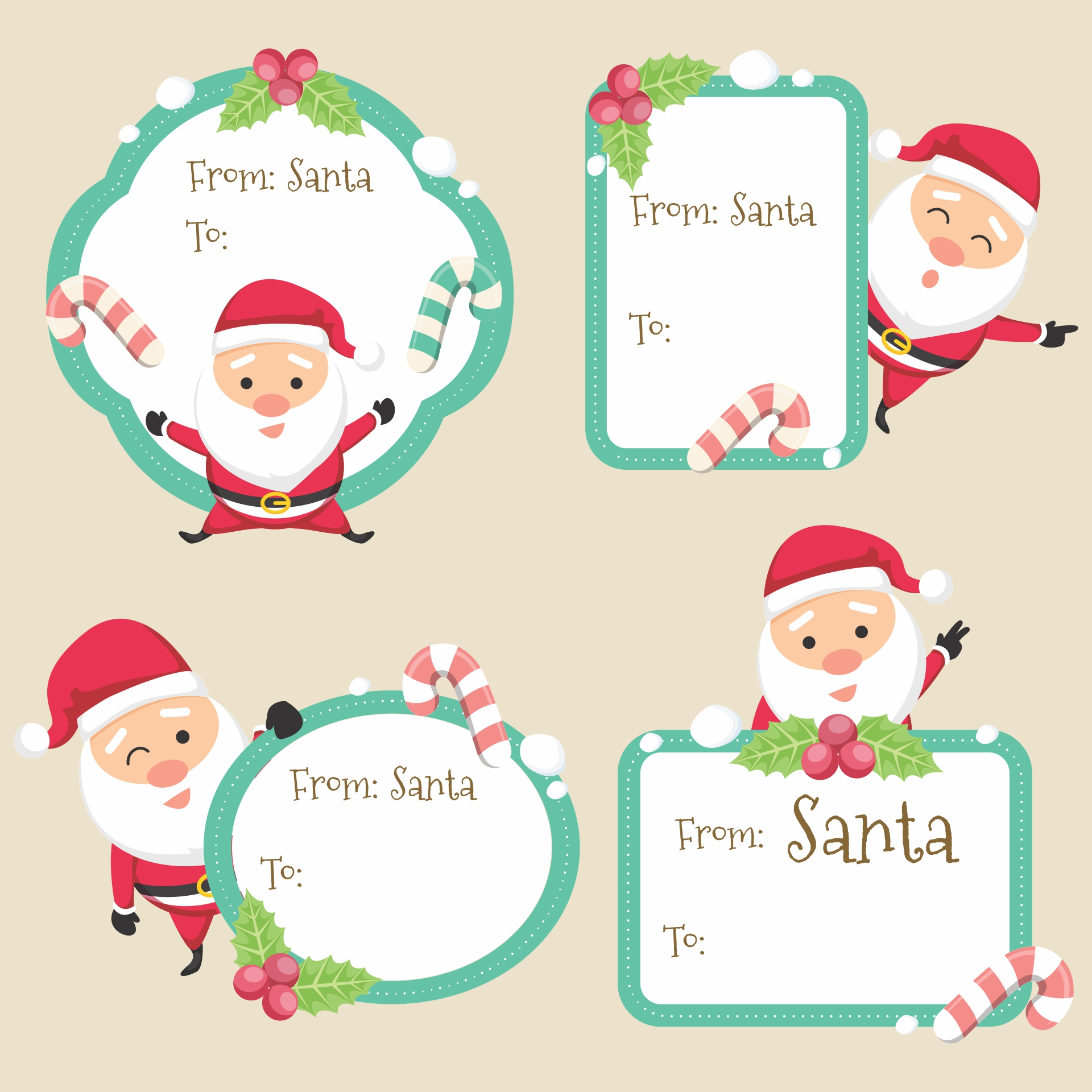 8 Images of Secret Santa Gift Tags Printable