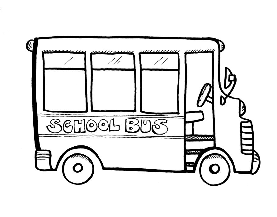 5 Images of Printable Coloring Pages Of School Buses