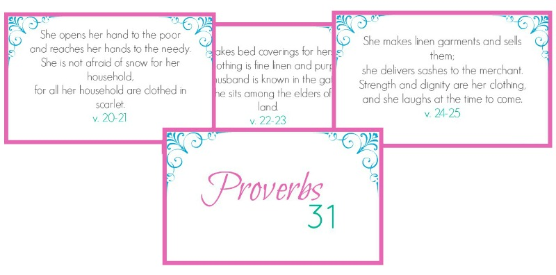 6 Images of Proverbs 31 Scripture Cards Printable