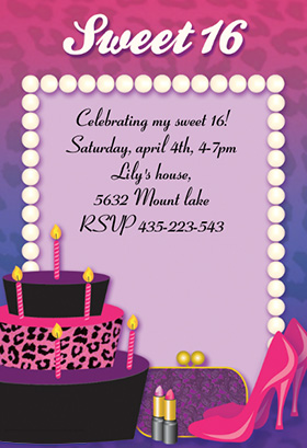6 Images of Sweet 16 Party Invitations Printable Free