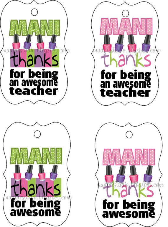 8 Images of Teacher Appreciation Gift Tag Template Printable