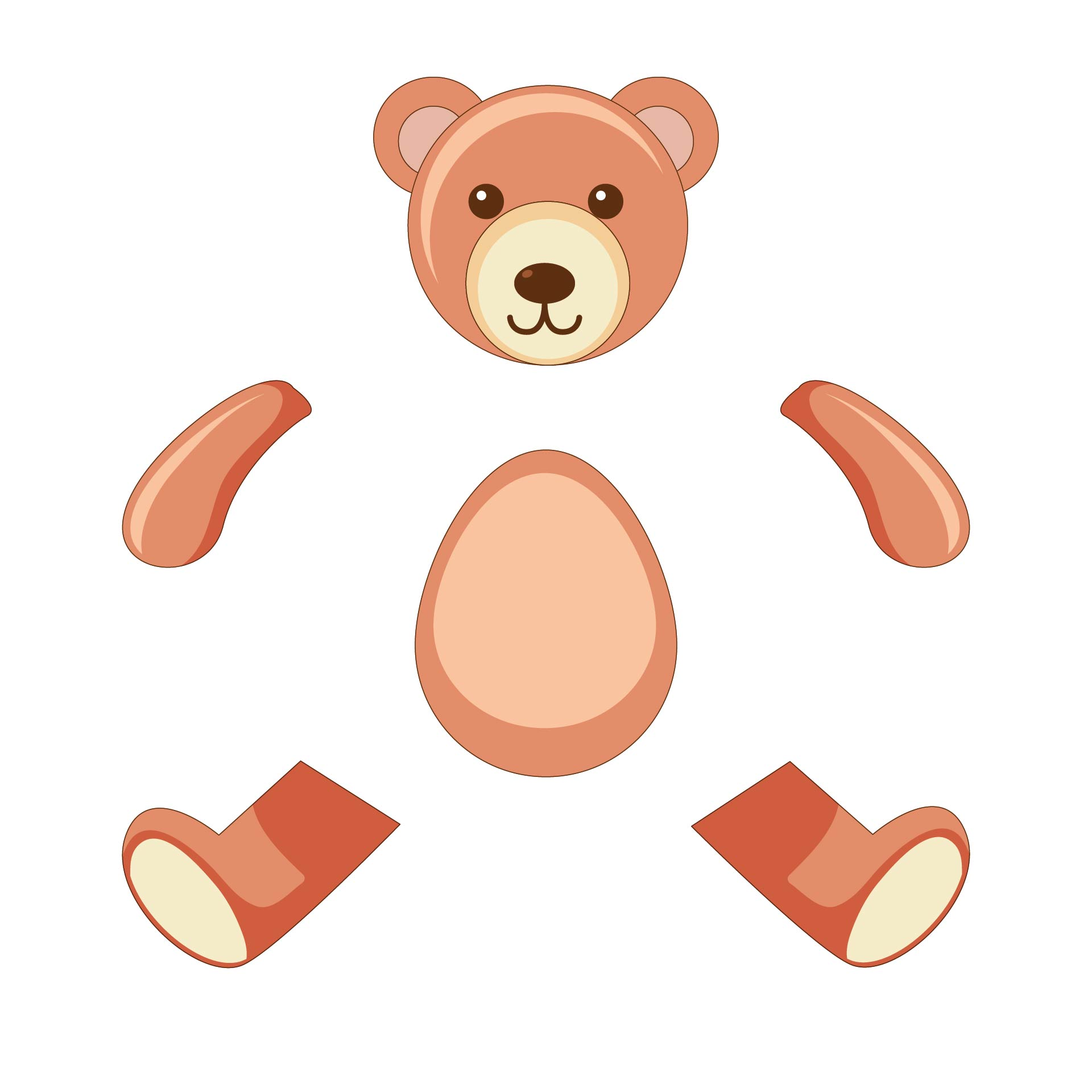 5 Images of Printable Teddy Bear Sewing Pattern