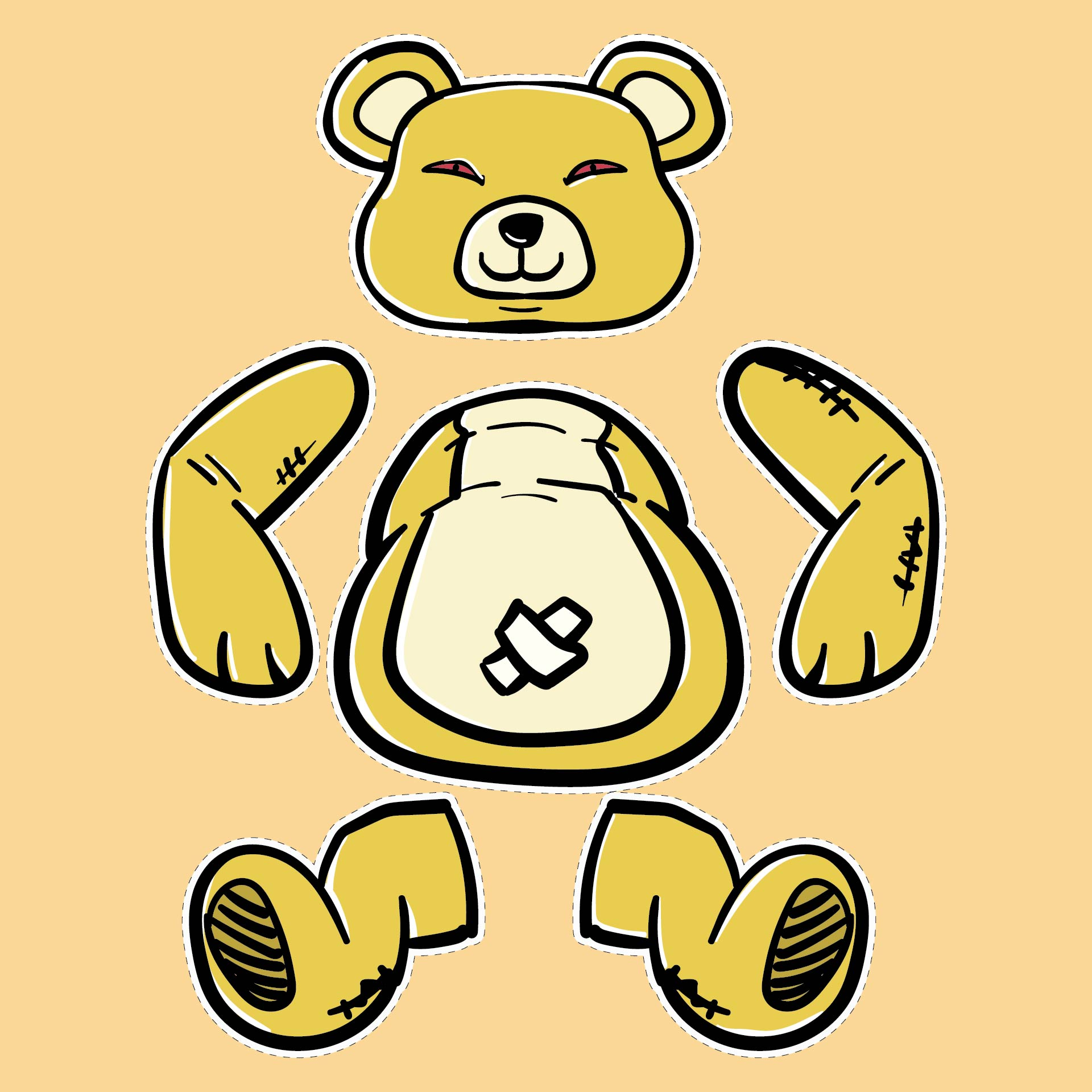 Teddy Bear Sewing Patterns Printables