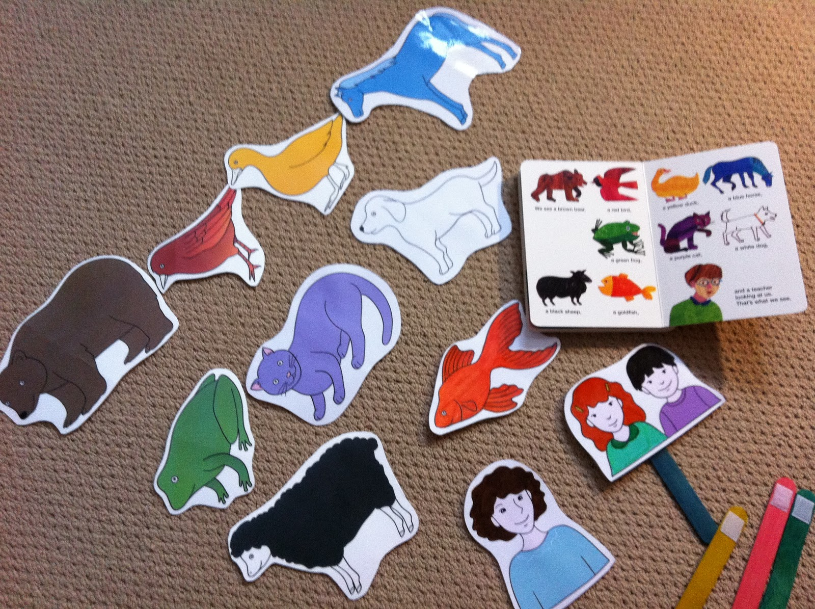 5 Images of Brown Bear Printable Puppets
