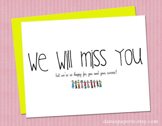 5 Images of Free Printable Going Away Cards