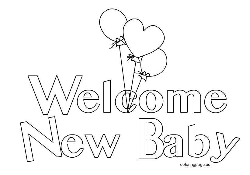 welcome sign coloring pages - photo#7